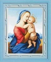 Free shipping DIY unfinished Cross Stitch kit Christian Jesus Mona lisa   printed baby JDJ-D121