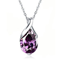 5 color-Angel tears new fashion zircon crystal pendant high quality wholesale fashion jewelry