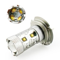 Free Shipping CREE H7 60W LED Car Light In White Brake Light/Work Light