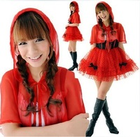 Christmas installation little red riding hood tulle dress princess clothes female ds costume