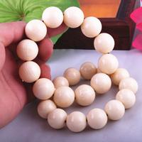 Resin 13*18mm,12*20mm white imitation ivory of hippopotamus hippo beads bracelets Men's design Buddist malas Factory direct sale