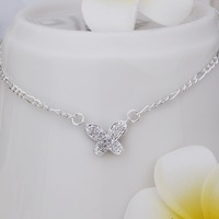 New Arrival!!Wholesale Sterling 925 Silver Anklets,925 Silver Fashion Jewelry,Insets small butterfly Anklets SMTA008