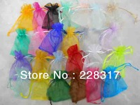 Hot sale! 7*9cm 500pcs/bag Organza Bags mix colors Christams & Wedding Gift Bags Jewlery Bags Gift packing Pouches
