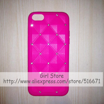 Starring Bling Bling Rhinestone Diamond Soft Silicone Rubber Case For Apple iPhone 5C Mobile Phone Bag Covers