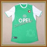 NEW SEASON!!! Feyenoord Away Green Soccer Jersey 13/14,Embroidery Logo Thailand Quality Feyenord Soccer Shirt+free Shipping