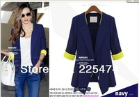 2013 Coat new slim size female summer suit small  women OL leisure long small suit women O leisure long small suit