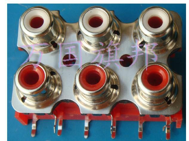 RCA audio socket /outlet/jack 6bit(China (Mainland))