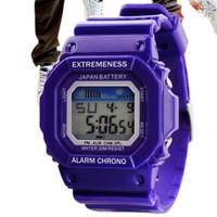 Student watch male women's waterproof watch multifunctional electronic watch fashion jelly trend watches