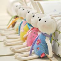 Rabbit car hangings plush toy doll rabbit cupsful belt wedding gift