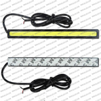 FreeShipping High Power New 12V Daylight 12W COB Car DRL COB 100% Waterproof Bumper Decorative Sticker Daytime Running Light Led