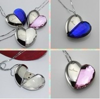 S-37 Wholesale Hot Necklace Jewellery Heart Crystal 4GB 8GB 16GB 32GB 64GB 128GB USB 2.0 Flash Memory Drive Stick Pen/Car/Thumb