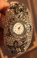 Free shipping European classic vintage luxury dress ladies crystal timepiece wrist jewelry ornament watches crystal quarzt
