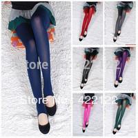 Winter full fat women sexy tights/leggings/panty/knitting/pantyhose in long stockings trousers-Core-spun yarn on footTT014-1pcs