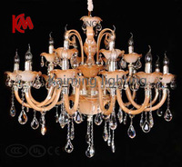 Free Shipping 2013 Best Seller Gold Chandeliers Lighting for Household Parlor, Living room, Hotel Hall with L18 KM6060-12+6