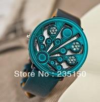 Free shipping Camshell Fashion Lady Rhinestone Belt Watch Fashion Watch Leather Watch