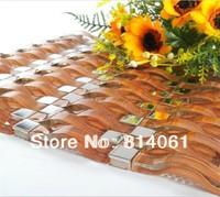 golden glass mosaic tile
