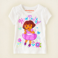 Free shipping Happy Children T Shirts summer short sleeves boys and girls for Height 90cm to 130cm