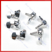 Free Shipping Chrome Semiclosed Guitar String Tuning Pegs Tuners Machine Heads 3L3R