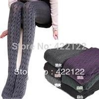 Winter full fat women sexy tights/leggings/panty/knitting/pantyhose in long stockings trouser-Thicken the rib hempTT024-1pcs