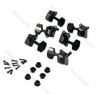 Free Shipping Semiclosed Guitar String Tuning Pegs Tuners Machine Heads 3L3R Black