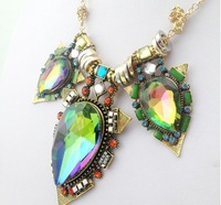 Big Gem Statement Necklace luxury jewelry exaggerate crystal choker necklace chunky Chain Fashion Necklaces charms 2013