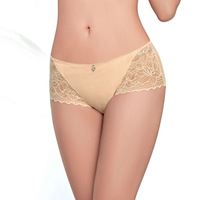 2PCS/lot  2Color Women's Underwear Panties Briefs  Hollow Out+Lace+Pendant  Breathable cotton S M L XL XXL Whole Sale