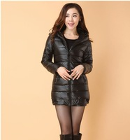 new 2013 generation of fat autumn and winter thick PU feather cotton cotton clothing Korean fashion lady coat winter coat