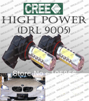 Free DHL 2pcs/lot 12V white 11W HB4 (HB3 9005 HB4 9006) 11W  High Power LED Bulbs, CREE High Power LED light bulbs