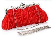 Wholesale Dinner new 2013 handbag women wild wrinkled dress bride Day Clutches  bag shoulder bag Messenger Evening bags C7