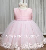 2013 new girl dress princess lace one-piece dresses for baby girl flower kid dress 100% cotton,free shipping