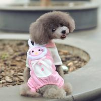 Pink three-dimensional rabbit pet clothes dog winter clothes dog clothes wholesale dog legs leotard