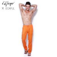 Igogo 2013ecaful top linen blending breathable comfort house casual pants