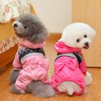 Bow coat fall and winter clothes pet clothes dog clothes dog clothes wholesale dog legs