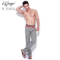 Igogo 2013ecaful top linen thread ofdynamism lacing casual trousers