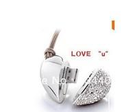Genuine Capacity USB Flash Drive, Heart Pen Driver, Gift USB Flash Disk, Jewelry USB flash drive 6 orders