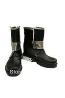Tomsuit Sword Art Online Kirito Black Mid-Calf Cosplay Shoes for Men Halloween