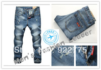 size:28-36#KP0926,2013 Fashion Brand Famous Mans Jeans,Ripped Jeans For Men,Ninth Pants Jeans Men,Dark Color Denim Men's Jeans