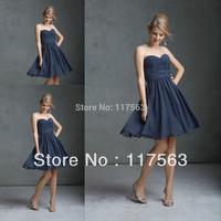 Famous Designer Nice Sweetheart  Chiffon Zipper Back Gray Color Bridesmaid Dress Brides Maid Dress BD054