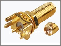10pcs/lot  RF Coaxial Connector SMA female End Launch PCB mount Straight long thread