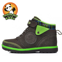Children shoes male child boots 2013 autumn and winter genuine leather snow boots child boots