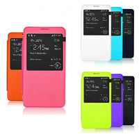 S View Battery Housing Flip leaher Case Cover for Samsung Galaxy Note 3 with Window+retail box,1pcs/lot+free shipping