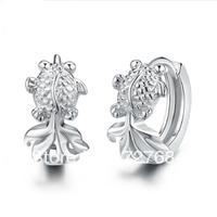 free shipping 925 pure silver earrings fashion female earrings anti-allergic for women
