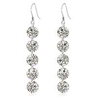 free shipping 925 pure silver earrings female fashion earring long design tassel earring drop earring