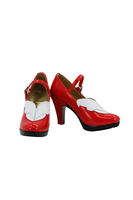 Tomsuit Mondaiji Black Rabbit Red Cosplay Shoes Cute Women Shoes for Halloween