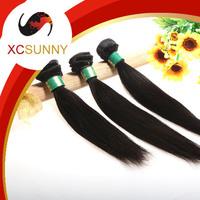 2014 XCSUNNY 5A Unprocessed 12-26 inch 3pcs Mix Length Straight 100% Peruvian Virgin Remy Human Hair Weft Weave 100g/pcs PVH018