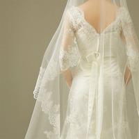 2013  Wedding Accessories Highest Wholesale Wedding Veils Bridal Accesories 1 layer Lace Veil Bridal Veils