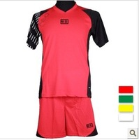 Soccer jersey set football clothing male ad football training services game jersey red
