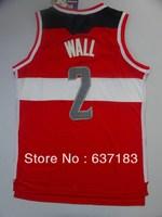 Wholesale Mens Cheap #2 John Wall Red/White Sport Jersey,2013 Washington New Material 30 Basketball Shirt,Stitched Logo Name