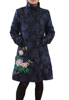 2013 !! New Desigual Womens Dark-Blue coat desigual trench outerwear free shipping size 36-38-40-42-44-46
