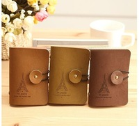 Korean version of the retro Eiffel Tower 20 card pack / leather bank card book / Credit Card Pouch -3 colors wholesale